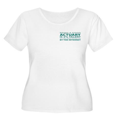 Good Actuary Women's Plus Size Scoop Neck T-Shirt