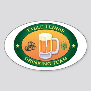 Table Tennis Team Oval Sticker