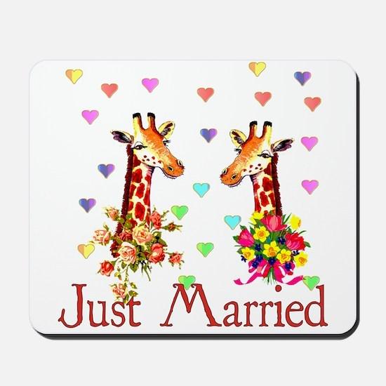 Wedding Giraffes Mousepad