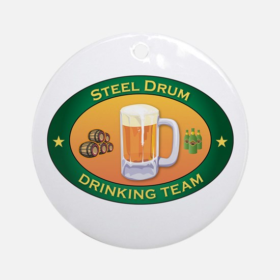 Steel Drum Team Ornament (Round)