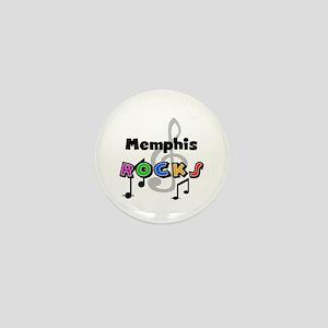 Memphis Rocks Mini Button