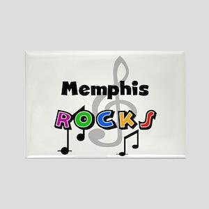 Memphis Rocks Rectangle Magnet