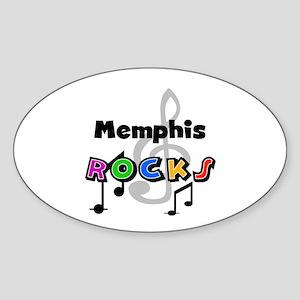 Memphis Rocks Oval Sticker