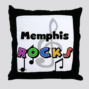 Memphis Rocks Throw Pillow
