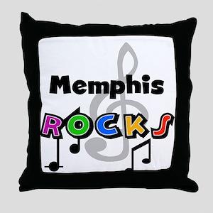 Memphis Rocks Throw Pillow