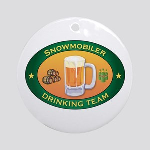 Snowmobiler Team Ornament (Round)