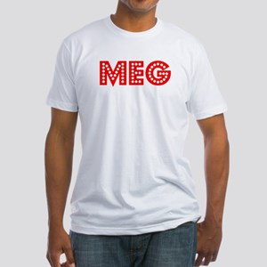 Retro Meg (Red) Fitted T-Shirt
