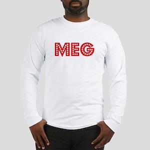Retro Meg (Red) Long Sleeve T-Shirt