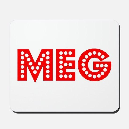 Retro Meg (Red) Mousepad