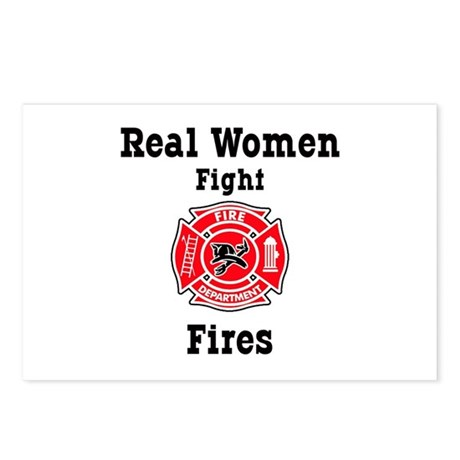 Real Women Fight Fires Postcards (Package of 8)