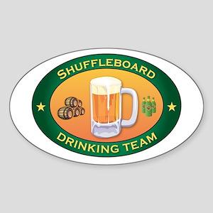 Shuffleboard Team Oval Sticker