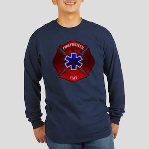 FIREFIGHTER-EMT Long Sleeve Dark T-Shirt