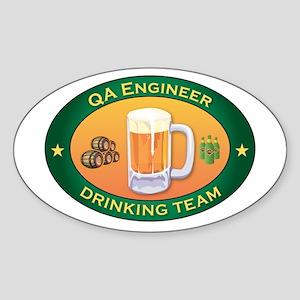 QA Engineer Team Oval Sticker