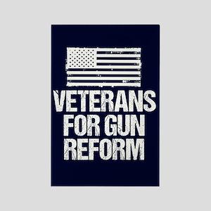 Veteran Gun Reform Rectangle Magnet