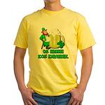 0% Irish 100% Drunk Yellow T-Shirt