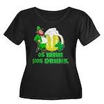 0% Irish 100% Drunk Women's Plus Size Scoop Neck D