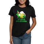 0% Irish 100% Drunk Women's Dark T-Shirt