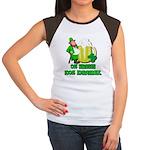 0% Irish 100% Drunk Women's Cap Sleeve T-Shirt