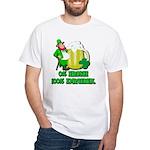 0% Irish 100% Drunk White T-Shirt