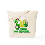 0% Irish 100% Drunk Tote Bag