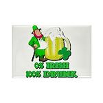 0% Irish 100% Drunk Rectangle Magnet (10 pack)