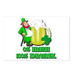 0% Irish 100% Drunk Postcards (Package of 8)