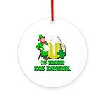 0% Irish 100% Drunk Ornament (Round)