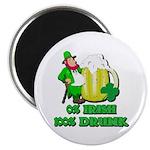 0% Irish 100% Drunk Magnet