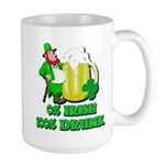0% Irish 100% Drunk Large Mug