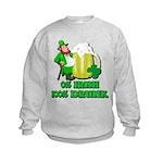 0% Irish 100% Drunk Kids Sweatshirt