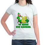 0% Irish 100% Drunk Jr. Ringer T-Shirt
