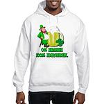 0% Irish 100% Drunk Hooded Sweatshirt