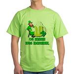 0% Irish 100% Drunk Green T-Shirt