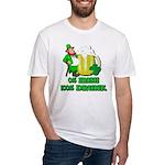 0% Irish 100% Drunk Fitted T-Shirt