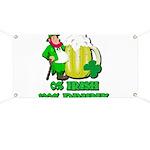 0% Irish 100% Drunk Banner
