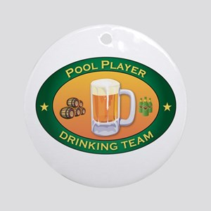 Pool Player Team Ornament (Round)
