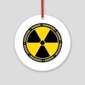 Radiation Warning Ornament (Round)