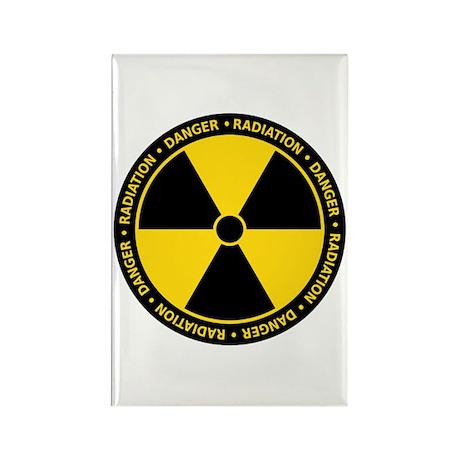 Radiation Warning Rectangle Magnet