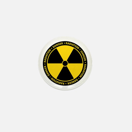 Radiation Warning Mini Button