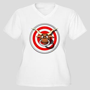 Bulls Eye Women's Plus Size V-Neck T-Shirt