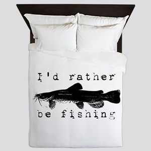 I'd rather be fishing Queen Duvet