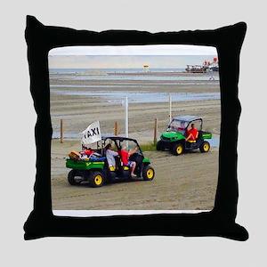 Dune Buggy Taxi Throw Pillow