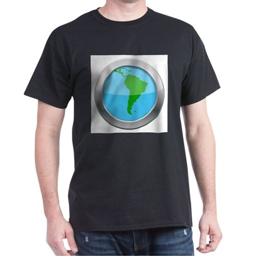 South America Map Silver Icon T-Shirt