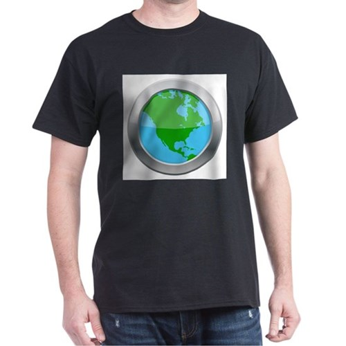 North America Map Silver Icon T-Shirt