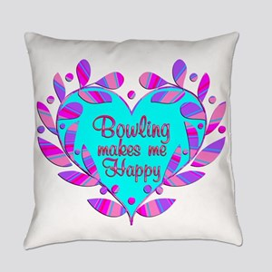 Bowling Makes Me Happy Everyday Pillow
