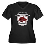 Wolfpack Football Booster Logo Plus Size T-Shirt