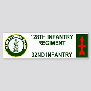 128th Infantry Regiment <BR>Bumper Sticker