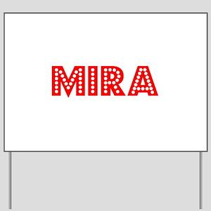 Retro Mira (Red) Yard Sign