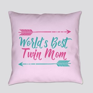 Worlds Best Twin Mom Everyday Pillow
