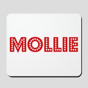Retro Mollie (Red) Mousepad